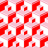 Vector clipart: red abstract cubes