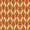 Vector clipart: red damask texture