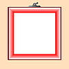 Vector clipart: red frame for photo