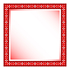 Vector clipart: red frame with floral ornament