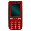 Векторный клипарт: красный мобильный телефон
