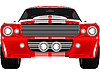 Vector clipart: red sport car