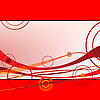 Vector clipart: red waves and circles