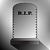 Vector clipart: rest in peace