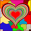 Vector clipart: retro hearts