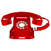 Vector clipart: retro red telephone