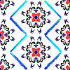 Vector clipart: retro seamless floral pattern 2