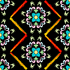 Vector clipart: retro seamless floral pattern