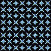 Vector clipart: retro white and blue seamless pattern on black background
