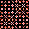 Vector clipart: retro white and red seamless pattern on black background