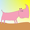 Векторный клипарт: носорог