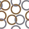 Vector clipart: rings seamless pattern