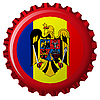 romania abstract flag on bottle cap