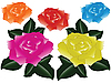 Vector clipart: roses against white