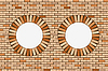 Vector clipart: round brick windows