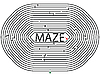 Vector clipart: rounded maze