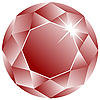 Vector clipart: ruby face against white