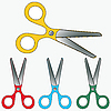 Vector clipart: scissors collection