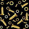 Vector clipart: golden screws and nuts