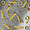 Vector clipart: screws and nuts over metallic texture 2