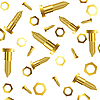Vector clipart: screws and nuts over white background