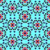 Vector clipart: seamless flowers pattern 2