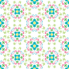 Vector clipart: seamless flowers pattern