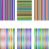 Vector clipart: set of 6 diferent stripes isolated on white