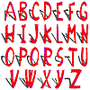 Vector clipart: shadowed alphabet