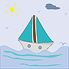 Vector clipart: ship sailing