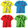 Vector clipart: shirts collection against white