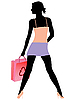 Vector clipart: shopping girl