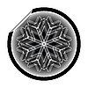 Vector clipart: snow flake sticker 10