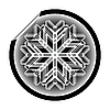 Vector clipart: snow flake sticker
