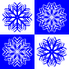Vector clipart: snow flakes 2