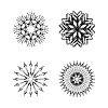 Vector clipart: snow flakes collection black and white