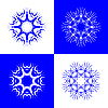 Vector clipart: snow flakes