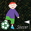 Vector clipart: soccer player background