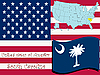 Vector clipart: south carolina state illustration