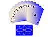 Vector clipart: spades cards fan with deck isolated on white