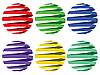 Vector clipart: sphere ribbons