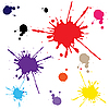 Vector clipart: colorful blots