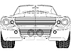 Vector clipart: sport car front sketck against white