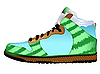 Vector clipart: sport shoe against white