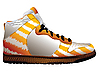 Vector clipart: sport shoe over white
