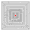 Векторный клипарт: квадратный лабиринт