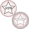 Vector clipart: starred stamps