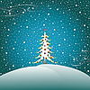 Vector clipart: stars, snow and christmas tree