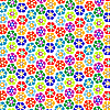 Vector clipart: strange flowers pattern