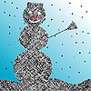 Vector clipart: striped snowman